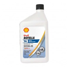 ACEITE SHELL ROTELLA T4 TRIPLE PROTECTION 15W40 API CK-4  6/1 CUARTO
