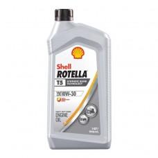 ACEITE SHELL ROTELLA T5 10W-30 SEMI SINTETICO (CK-4) 6/1 CUARTO