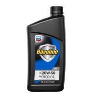 CHEVRON HAVOLINE 20W-50 GF5 API SN MOTOR OIL 12/1 CUARTO