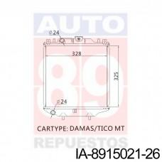 RADIADOR DAEWOO DAMAS 17700A-80D01-000 15021-26 325X328X26