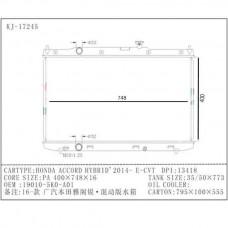 RADIADOR HONDA ACCORD HYBRID E-CVT 2014- 400X748X16 17245 19010-5K0-A01