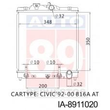 RADIADOR HONDA CIVIC  AT 19010-Q28-R02 P30-901 IA-8911020 IGUAL AL IA-8911019 350*355*26