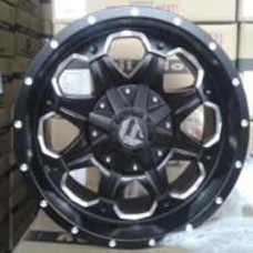 RIN 16 MATT BLACK WITH MILLING 16X8.0 ET15 5X139.7 CB95.3